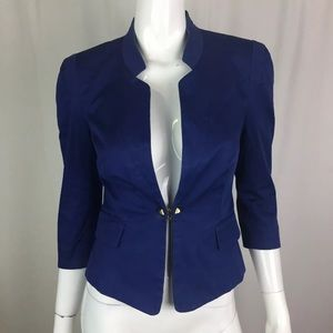 Bebe Stretchy 3/4 Sleeve 1 Button Blazer Jacket